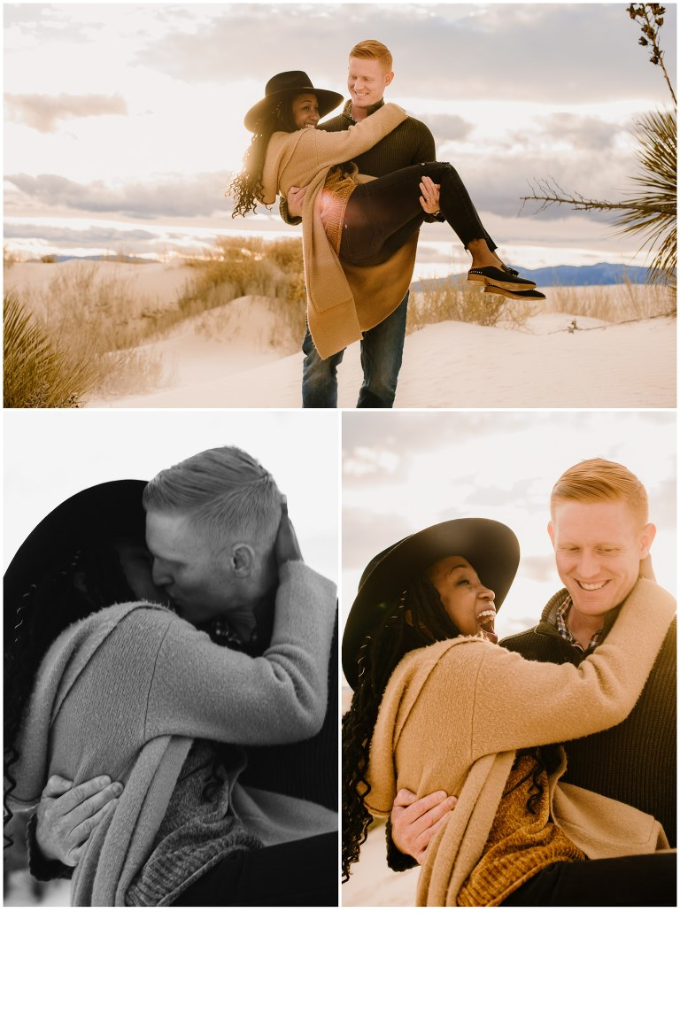 Couples Session in White Sands New Mexico