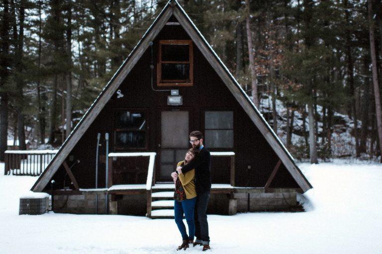Wisconsin Dells Winter Engagement